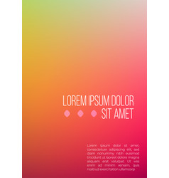abstract colorful geometric a4 cover mockup vector image