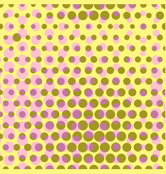 Abstract dotted halftone background colored vector