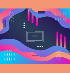 Abstract geometric colorful background design vector