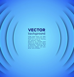 Abstract sound themed background with blue layers vector image