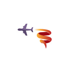 aircraft fly symbolic creative air logo vector image
