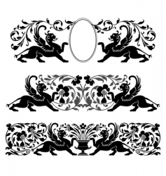 antique heraldic ornaments vector image