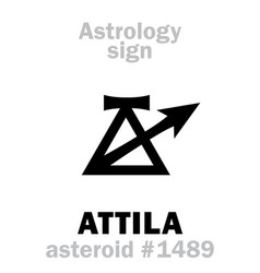 Astrology asteroid attila scourge of god vector