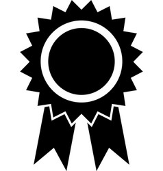 award ribbon icon vector image