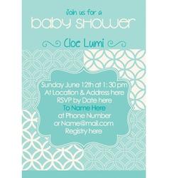 Baby-Shower Classic Aqua vector