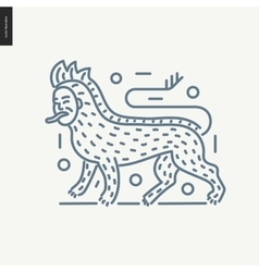 Bestiary outlined icon vector