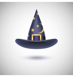 Black witch hat for Halloween vector