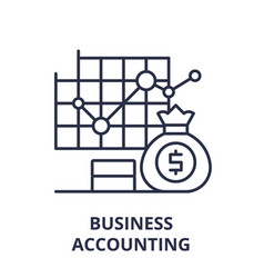 business accounting line icon concept business vector image