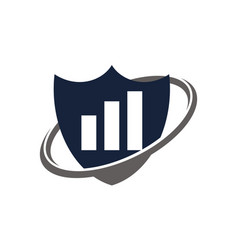business investment shield vector image