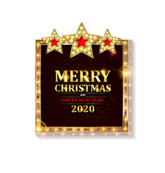 christmas and new year 2020 vector image