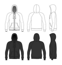 clothing set man hoodie vector image