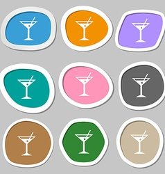 Cocktail martini Alcohol drink symbols vector