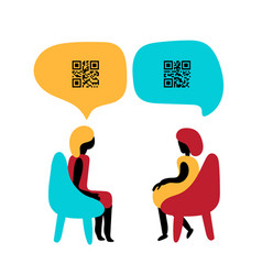 Communicate with coded messages using qr code vector