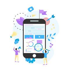 concept for digital marketing agency vector image