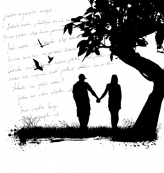 couple at outdoor vector image