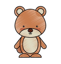 cute bear woodland icon vector image