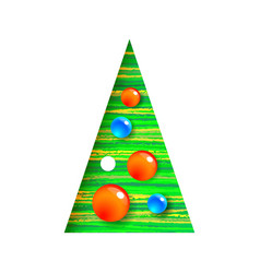 decorated christmas tree with balls modern vector image