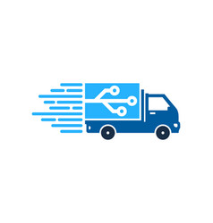 digital delivery logo icon design vector image