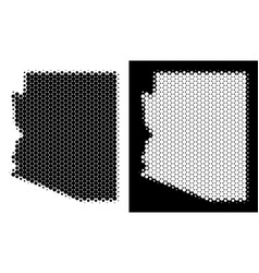 Dotted halftone arizona state map vector