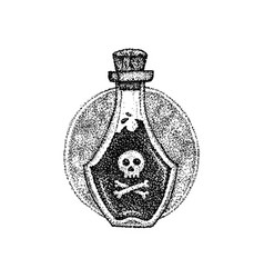 dotwork bottle with poison vector image