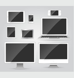 Electronic devices - modern objects vector