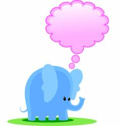 elephant thinks vector image