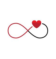 Eternal endless love sign on white background vector