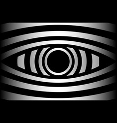 Eye - abstract black and white background vector