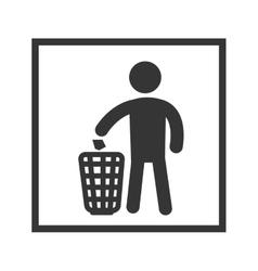 Grabage recycling sigb vector