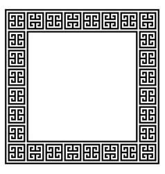 Greek retro frame or border design vector