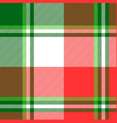 green bright madras plaid seamless fabric texture vector image