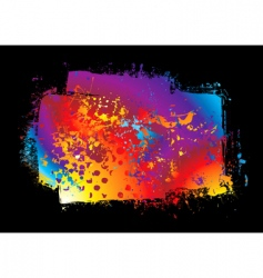 grunge rainbow banner vector image