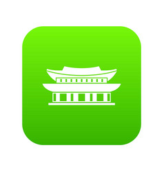 gyeongbokgung palace seoul icon digital green vector image