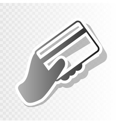 hand holding a credit card new year vector image