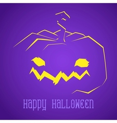 Happy Halloween Smiley Pumpkin vector image
