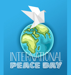 happy international peace day vector image