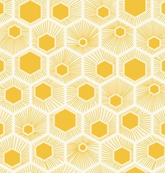 honeycomb pattern design yellow background vector image