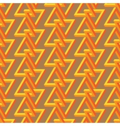 Impossible triangle seamless pattern vector image