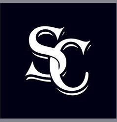 initial letter sc logo template vector image