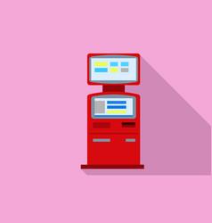 Kiosk icon flat style vector
