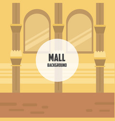 Mall background vector