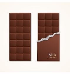 Milk Chocolate Package Bar Blank vector