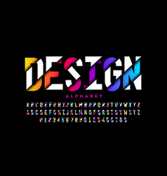 modern style font vibrant alphabet letters vector image