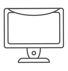monitor thin line icon computer screen vector image