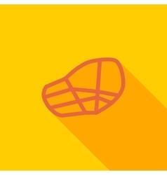 Muzzle icon vector