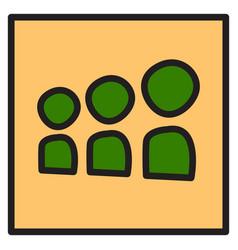 Myspace social network icon vector