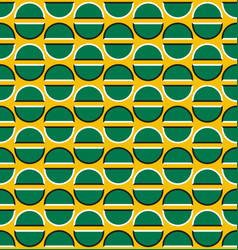 Optical illusion seamless pattern moving green vector