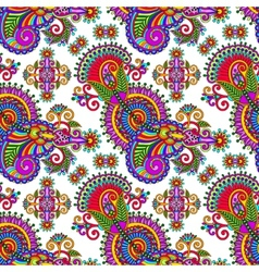 ornate seamless flower paisley design background vector image vector image
