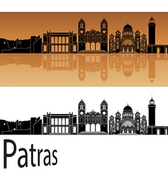 Patras skyline in orange vector image
