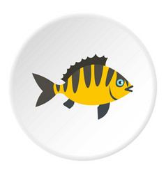 Perch fish icon circle vector